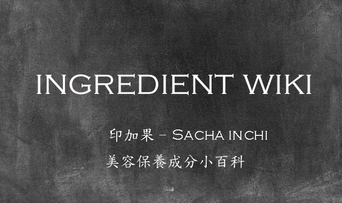 【美妝保養成分大百科】什麼是印加果/Sacha Inchi